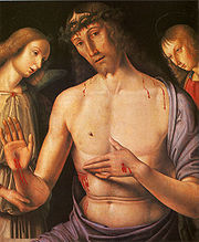 Christ Supported by Two Angels by Giovanni